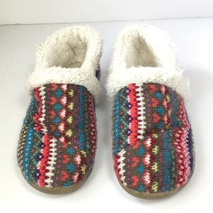 Toms fair isle slippers faux shearling youth 1